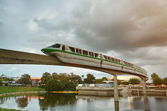 Monorail train in epcot disney park Stock Image