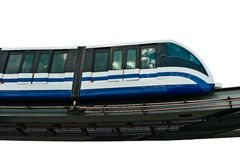 Monorail train isolated Royalty Free Stock Photos