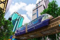 Monorail train at Kuala Lumpur Stock Photos