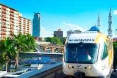 Monorail train in Kuala Lumpur Royalty Free Stock Photo