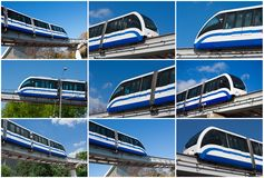 Monorail train Stock Photo