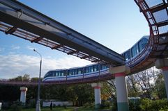 Monorail train in Moscow.