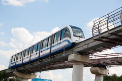 Monorail train in Ostankino district in Moscow Stock Photography