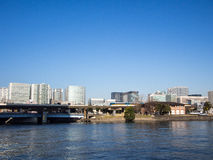 Monorail Train at Seafort Area, Tennozu Isle, Tokyo, Japan Stock Photography
