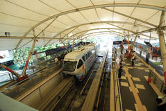 Monorail train station Royalty Free Stock Image