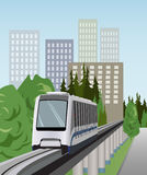 Monorail train vector Royalty Free Stock Photo