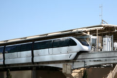 Monorail or tram at station Royalty Free Stock Photo