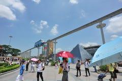 monorail świat parkowy turystyczny nadokienny Obraz Royalty Free
