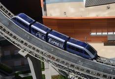 Monorailförbindande hotell i Las Vegas Arkivbild