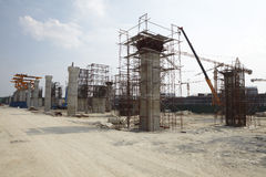 Monorial contruction site Royalty Free Stock Image