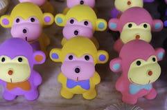 Monos coloridos de la arcilla Imagen de archivo libre de regalías