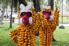 Monos de la fruta Imagen de archivo