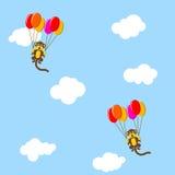 Monos del vuelo Foto de archivo libre de regalías