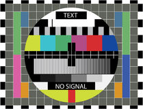 Monoscope. Retro monoscope after tv broadcast no signal Stock Image