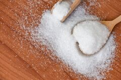 Free Monosodium Glutamate On Spoon And Wooden Table Background, MSG For Food Seasoning Royalty Free Stock Photography - 217167057