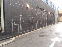 Monotone γκράφιτι οδών του Λονδίνου Στοκ φωτογραφία με δικαίωμα ελεύθερης χρήσης