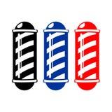 Monotone Barber& x27;s Poles. Symbol Vector Graphic Design Stock Photography