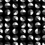 Monotone black,white and grey Modern and trendy geometric polka. Dot 4 quaters seamless pattern vector design for fashion ,fabric,wallpaper,and all prints royalty free illustration