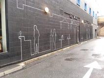 Monotone de straatgraffiti van Londen Royalty-vrije Stock Foto