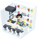 Monotone Küche Lizenzfreie Stockbilder