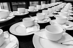 Monotone koloru set kawowa przerwa Zdjęcie Royalty Free