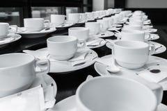 Monotone koloru set kawowa przerwa Obrazy Stock