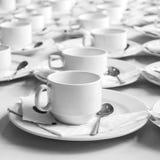 Monotone koloru set kawowa przerwa Obrazy Royalty Free