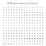 Monotone metro arrows and direction Stock Photo