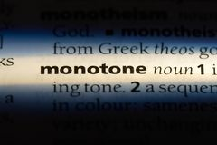 Monotone. Word in a dictionary.  concept royalty free stock image