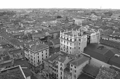 Monotone Picture, Beautiful Architectures of Verona Old Town Royalty Free Stock Photos