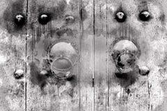 Monotone shade image of closed doors Stock Image