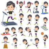 Monotone wear man Sports & exercise Stock Photos