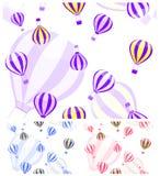 Monotonous aerostat and balloon seamless pattern Stock Photos
