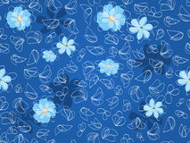Monotonous floral seamless pattern background Royalty Free Stock Images