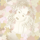 Monotoon druivenportret Royalty-vrije Stock Foto's
