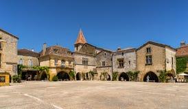 Monpazier dans le Dordogne photo libre de droits