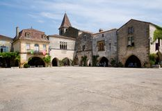 Monpazier, France Stock Photo