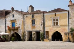 Monpazier, France royalty free stock images