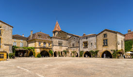 Monpazier i Dordognen royaltyfri foto