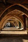 The old bastide of Monpazier, Dordogne, France Royalty Free Stock Image