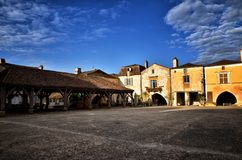 The old bastide of Monpazier, Dordogne, France Royalty Free Stock Photos