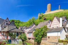 Monreal με το κάστρο Loewenstein Στοκ εικόνα με δικαίωμα ελεύθερης χρήσης