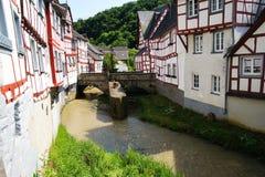 Monreal - die meiste schöne Stadt in Rheinland Pfalz Stockfotos