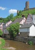 Monreal Eifel region, Tyskland Arkivbild