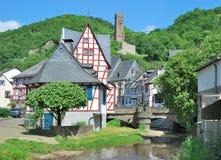 Monreal, het Nationale Park van Eifel, Duitsland Stock Foto's