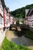 Monreal - mest härlig stad i Rheinland-Pfalz Fotografering för Bildbyråer
