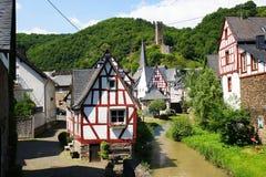 Monreal - mooiste stad in het Palatinaat van het Rijnland Royalty-vrije Stock Afbeelding