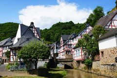 Monreal - mooiste stad in het Palatinaat van het Rijnland Royalty-vrije Stock Fotografie