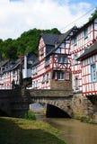 Monreal - mooiste stad in het Palatinaat van het Rijnland Stock Foto