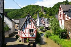 Monreal - most beautiful town in Rhineland Palatinate Royalty Free Stock Image